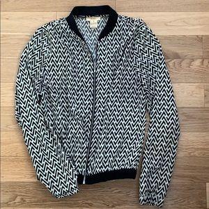 Black and white light jacket